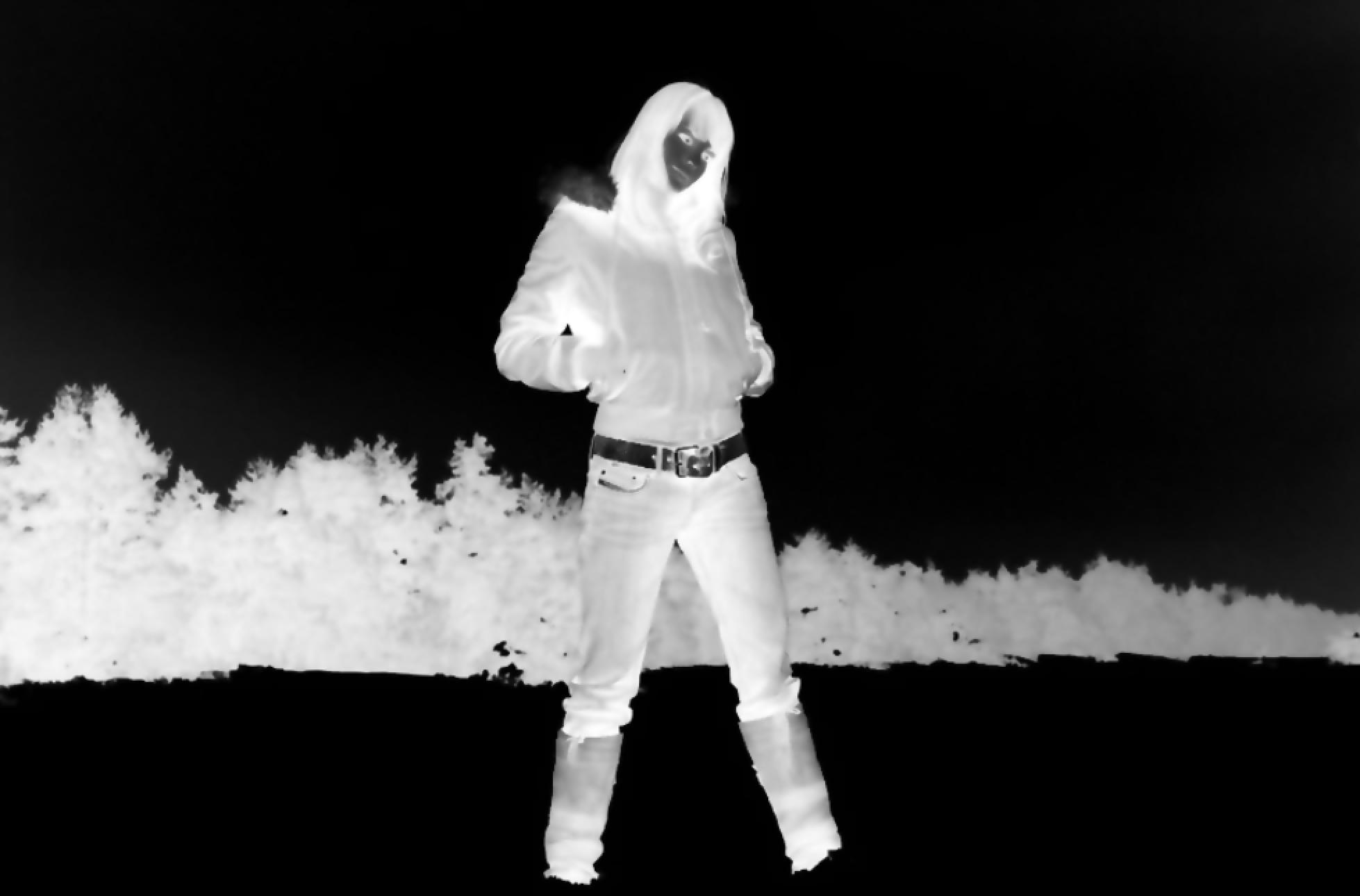 Voorbeeld van een foto met geïnverteerde kleuren