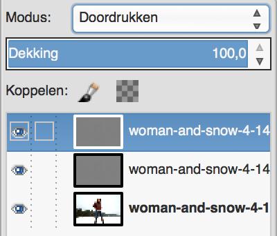 GIMP in Doordruk-modus
