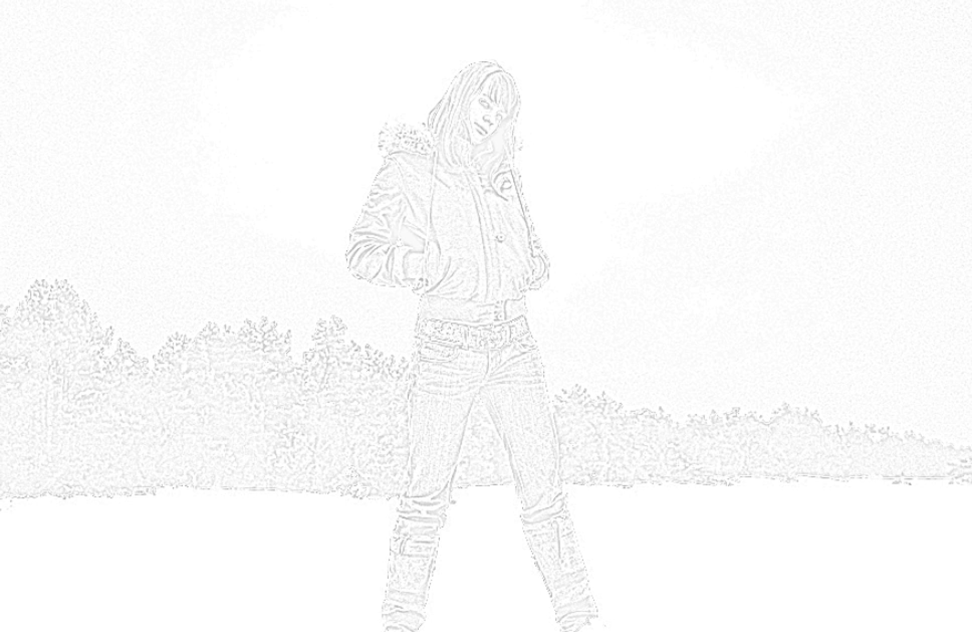 GIMP - voorbeeld van foto die omgezet werd naar een tekening