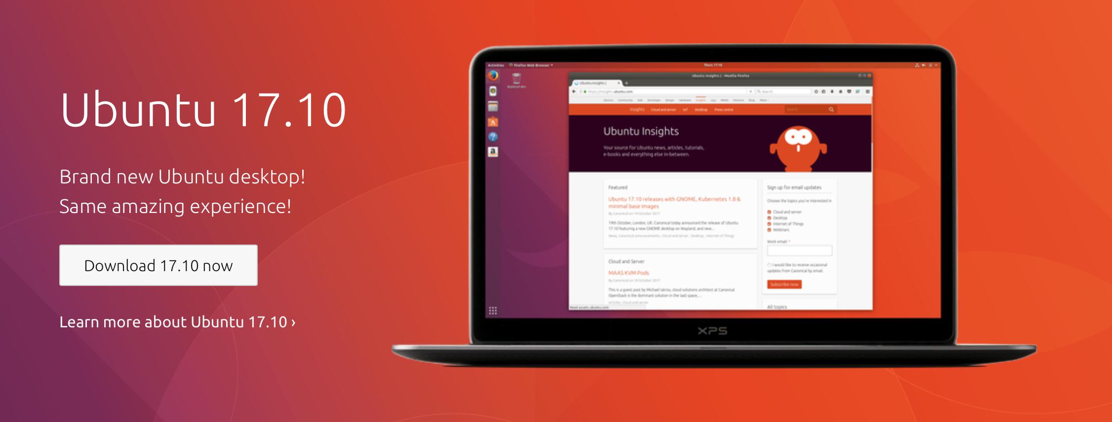Downloadbanner van Ubuntu