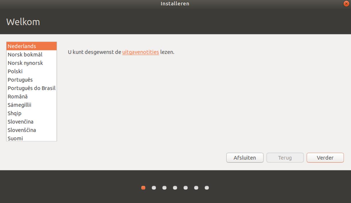 Taalkeuze Ubuntu